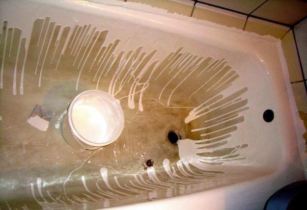ремонт ванной с применением жидкого акрила