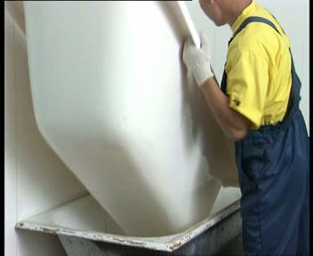 ремонт ванны с использование акрилового вкладыша