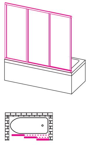 Схематичный вид трехсекционных дверц