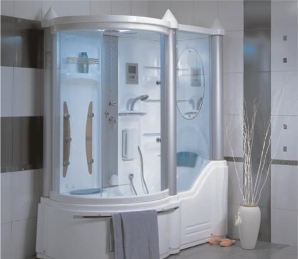 Рациональный вариант – душевая кабина с ванной