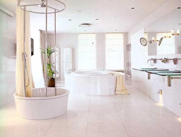 Стиль хай-тек в образцовой ванной