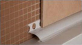 уголок между ванной и стеной