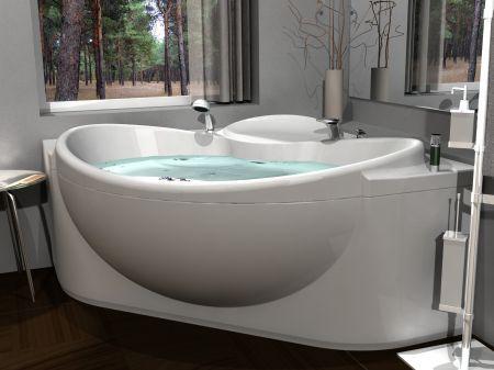 Современная угловая ванна Эпсилон Акватек