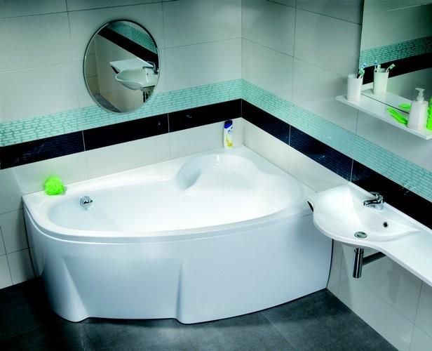 ванна асимметричная угловая