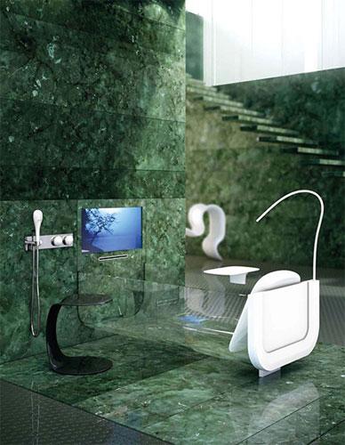 Ванная со встроенным ТВ