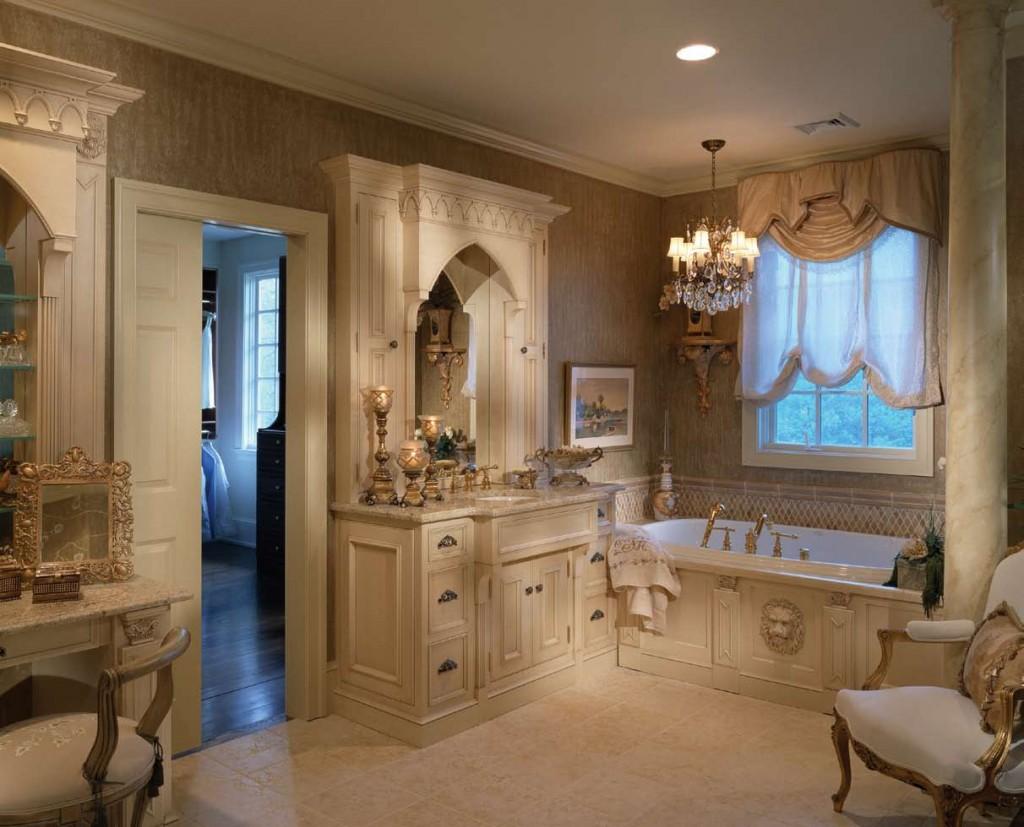 Аксессуары в классической ванной