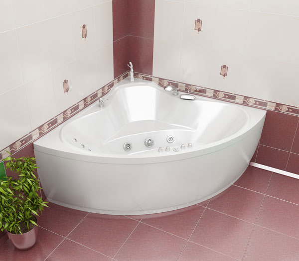 ванна треугольная размеры