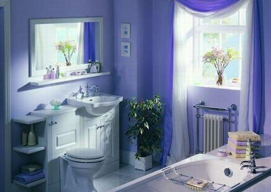 ванная комната фиолетовая