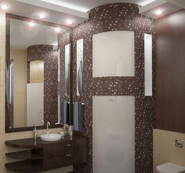 Пример ванной в мозаике