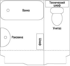 ванная комната с присоединенным коридором
