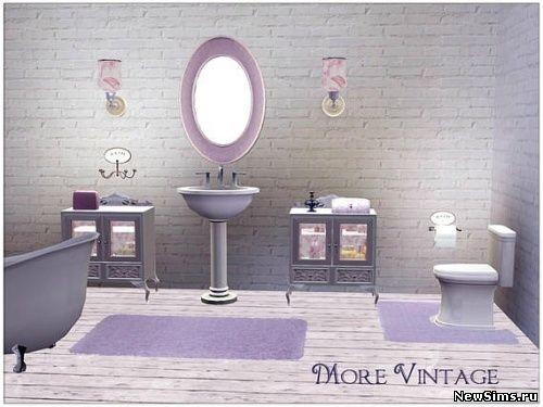 Оригинальная ванная в стиле винтаж