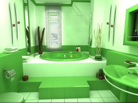 Зеленая сантехника – оригинальное решение дизайнерской композиции