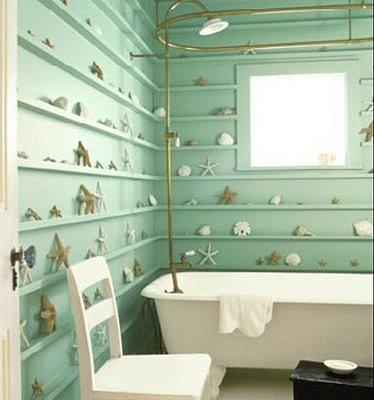 Свежесть моря в интерьере ванной комнаты