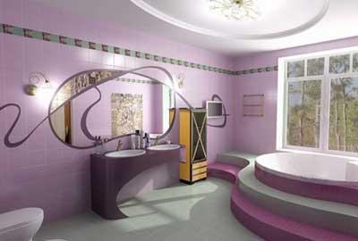 Необычные линии стиля Арт-Деко в интерьере ванной