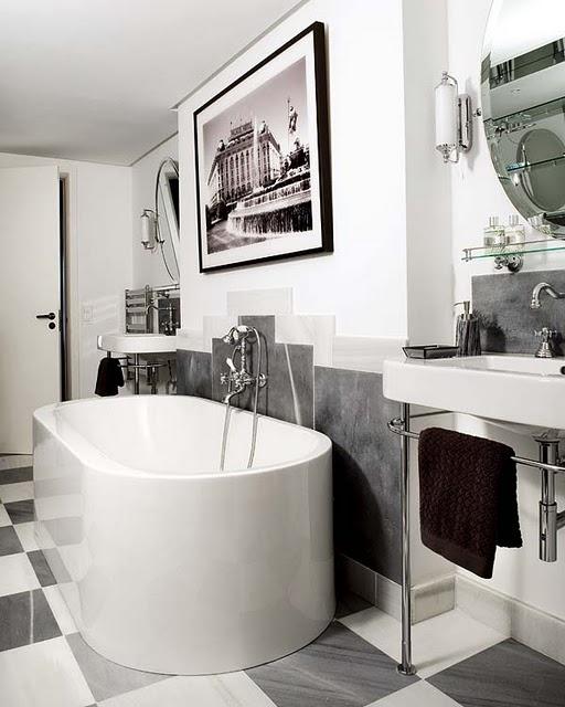 Ванная в стиле арт деко