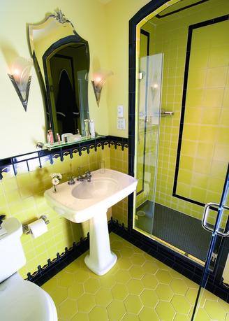 Арт деко модный стиль ванной комнаты