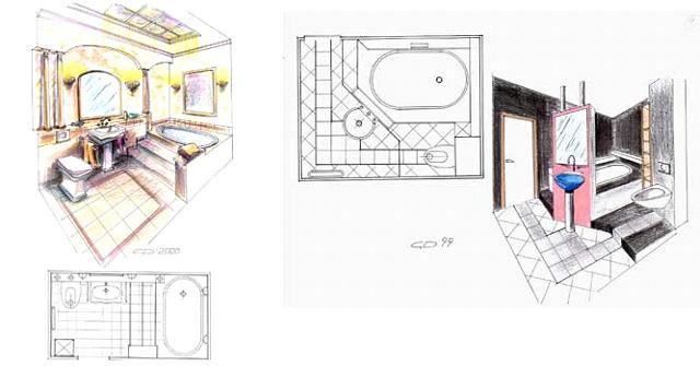 План-схема ремонта ванной комнаты