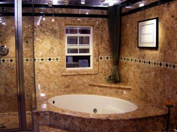 Ванные комнаты из искусственного камня прослужат не только вам и вашим детям, но и внукам и, возможно, правнукам