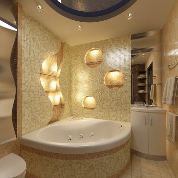 Ванные угловые: размеры ванны подбирают исходя из наиболее рационального распределения свободного пространства
