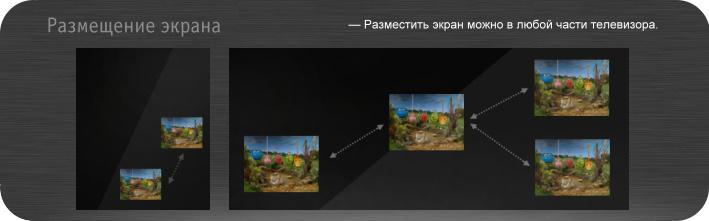 Варианты расположения экрана за зеркальной поверхностью