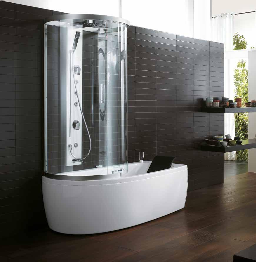 Выгодный тандем душевой кабинки и ванны