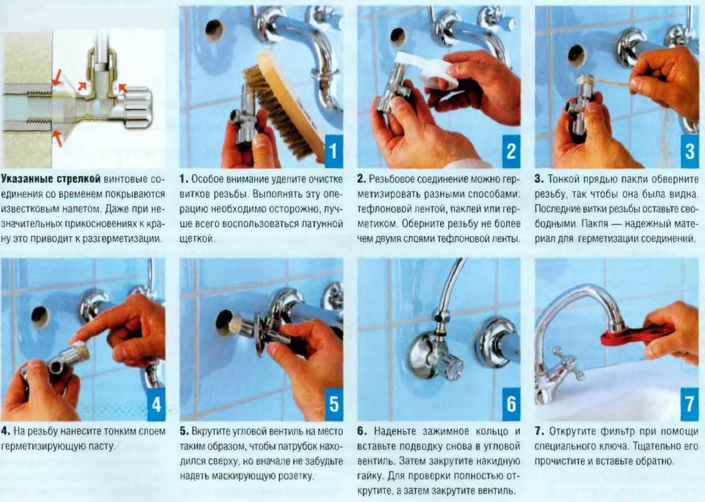 Правила установки смесителя в ванной