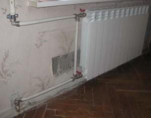 Отсекающие краны на радиаторе отопления