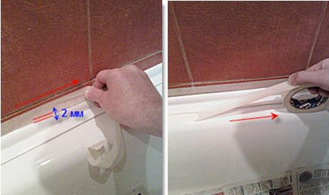 бордюр самоклеющийся для ванны