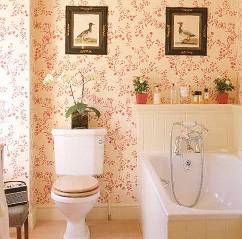 Цветы в ванной комнате