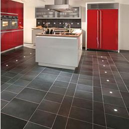 Кухонный пол из кафельной плитки
