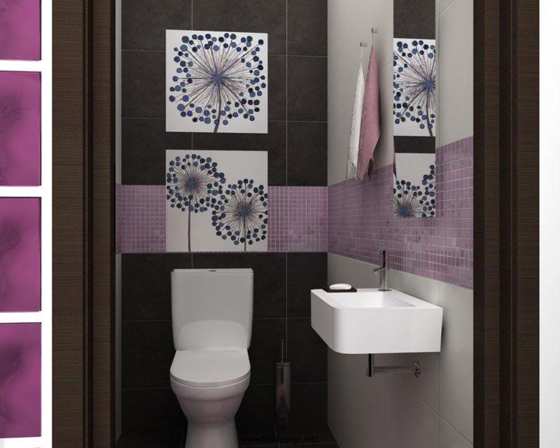 Пример оформления санузла в современном стиле минимализм