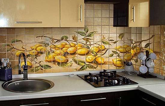 Кафельная плитка: дизайн кухни