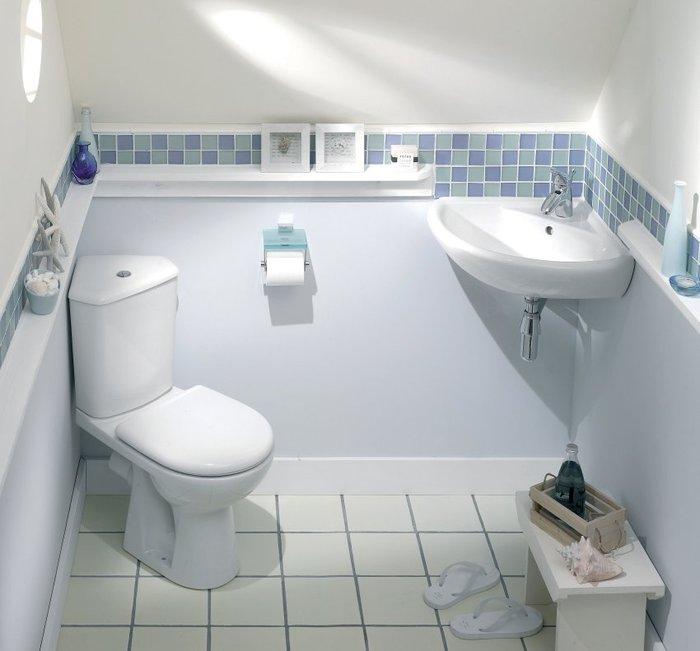 Наиболее оптимальный вариант интерьера туалета после разделения совмещенного санузла