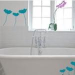 трафареты для стен в ванной