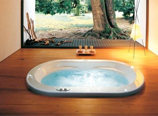Встроенная металлическая ванна