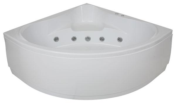 Металлическая угловая ванна