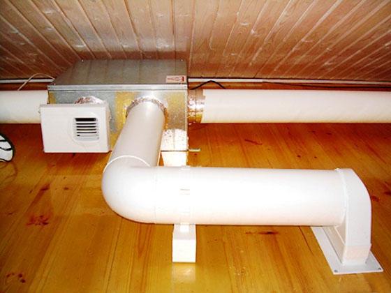 Электрооборудование принудительной вентиляции на чердачном помещении