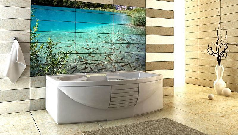 3 д кафель: ванная комната в интересном исполнении