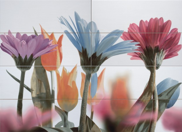 Кафельная плитка: объемное изображение – цветы, словно живые