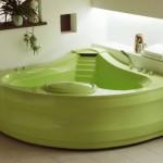 акриловая ванна фисташкового оттенка – оригинальный дизайн