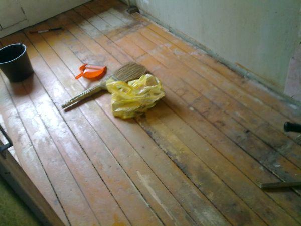 кафель пол на деревянный