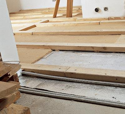 кафельная плитка на деревянный пол