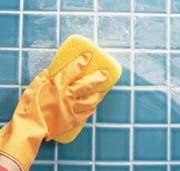 Очистка влажной губкой