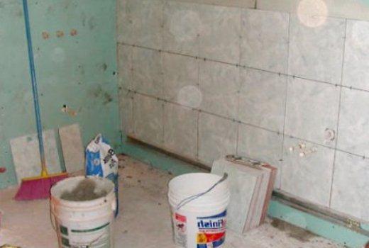 плитка в ванной на гипсокартон