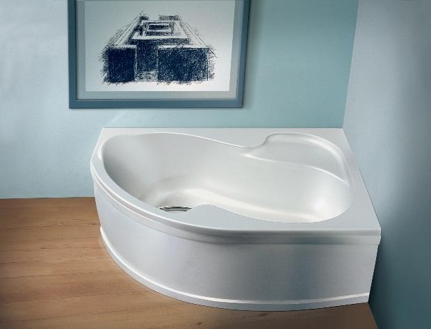 Акриловые ванны отличаются многообразием форм