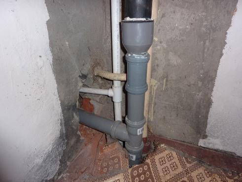замена стояка канализации
