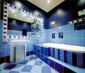 При грамотном подборе плитки может быть создан потрясающий дизайн ванной