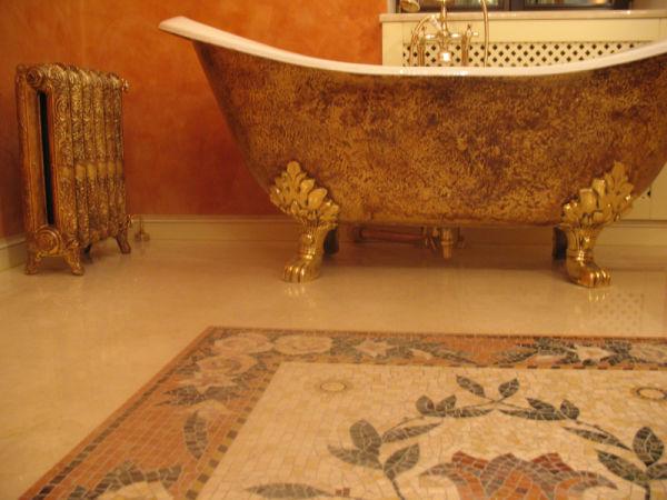 Ванная комната красных тонов в стиле прованс