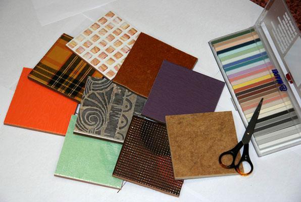 Многообразие расцветок и текстуры кафельной плитки.