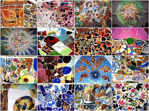 Разнообразная мозаичная плитка.